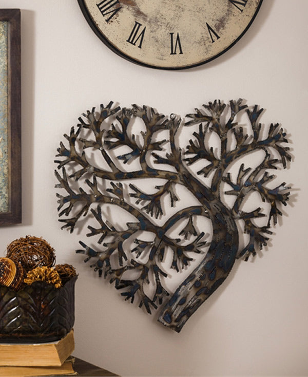 Tree of Love Rustic Heart Art