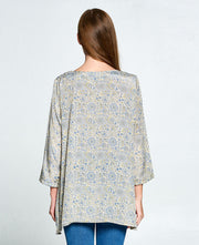 Fresh Flowers Silk Blend Tunic, India