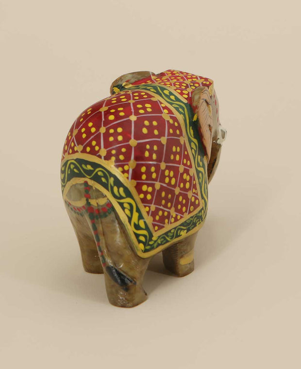 Small Handmade Elephant Sculpture, India