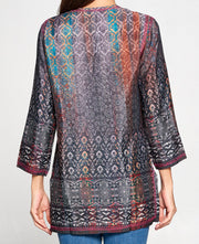 Embroidered Indian Rose Tunic