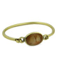 Oval Gemstone Brass Bangle Bracelet, Chile