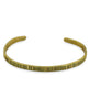 Fair Trade Textured Brass Cuff Bracelet, Chile