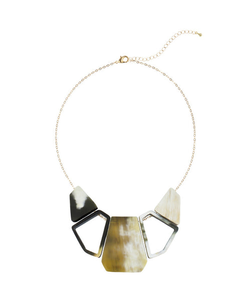 Vietnamese Bullhorn Bib Cutout Necklace