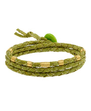 Braided Leather Rainforest Bracelet, Ecuador