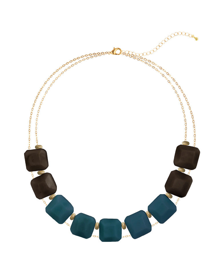 Chunky Tagua Block Necklace, Multiple Colors