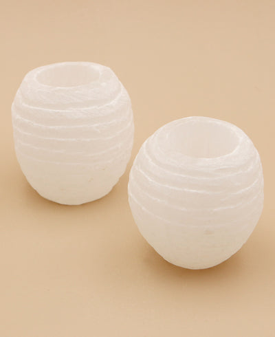 Selenite Tealight holders
