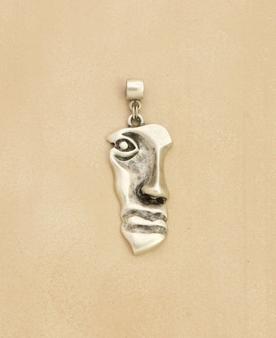 Pewter Face Pendant