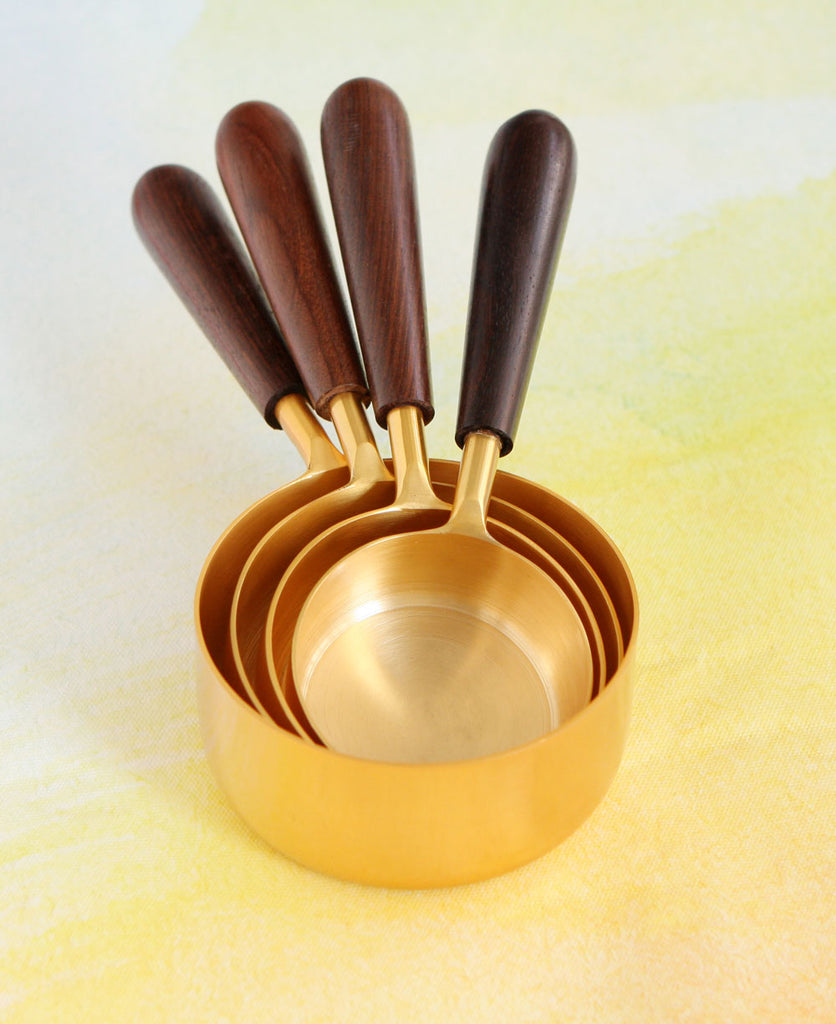 Fair Trade Gold Measuring Cups, Made In India