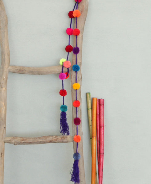Fair Trade Multicolor Pom-Pom Garland, Mexico