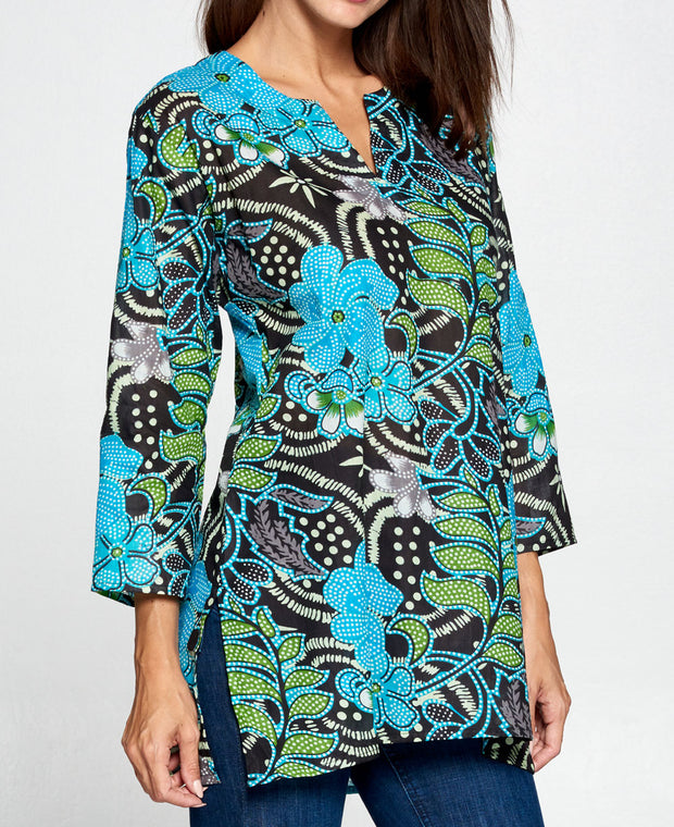 Floral Tunic Top side
