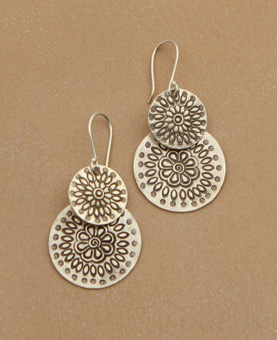 Hill Tribe Disk Earrings