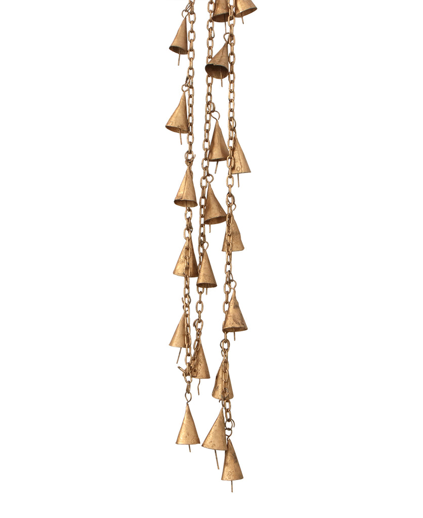 Gilded Indian Brass Bell Garlands