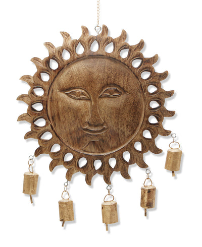 Carved Sun Wall Chime