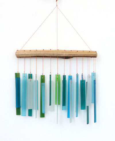Geometric Glass Wind Chime