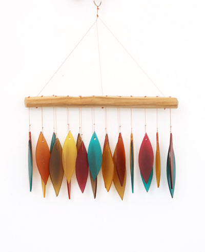 Southwestern Sunset Glass Wind Chime