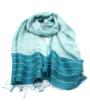 Teal Ripple Scarf