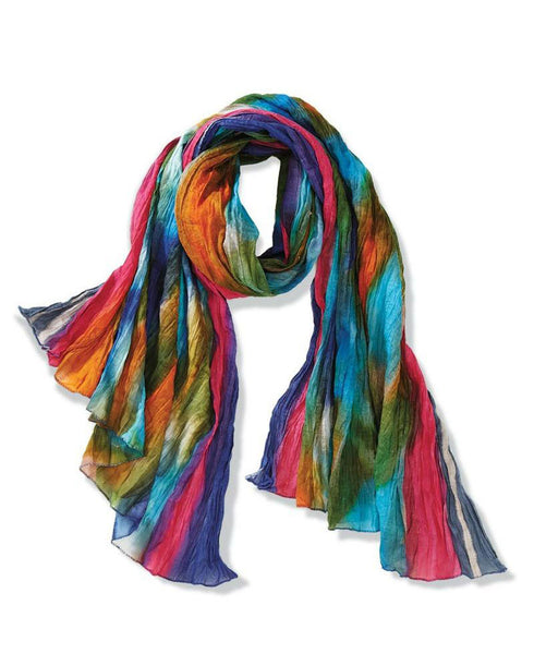 Right as Rainbows Cotton Scarf, India
