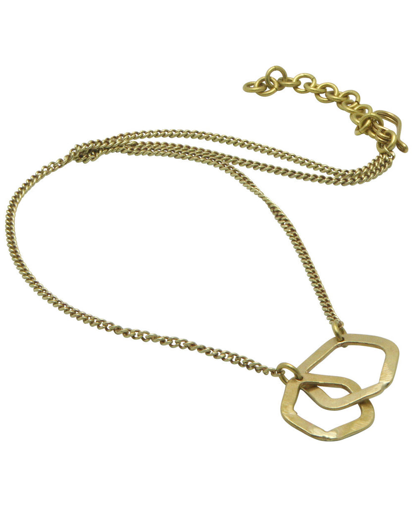 Together Forever Brass African Link Necklace