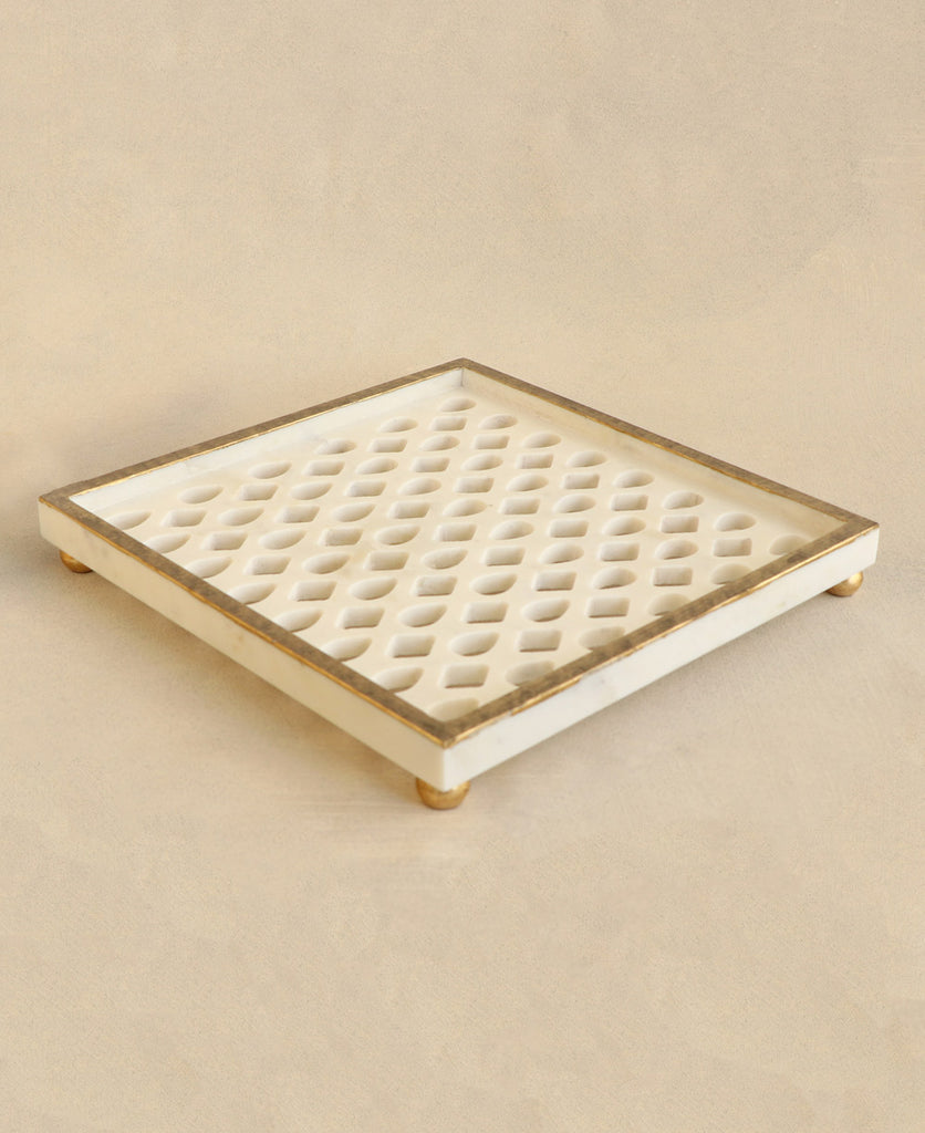 Marble Lattice Tray