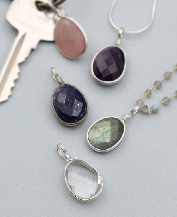 Gemstone Charm Pendants