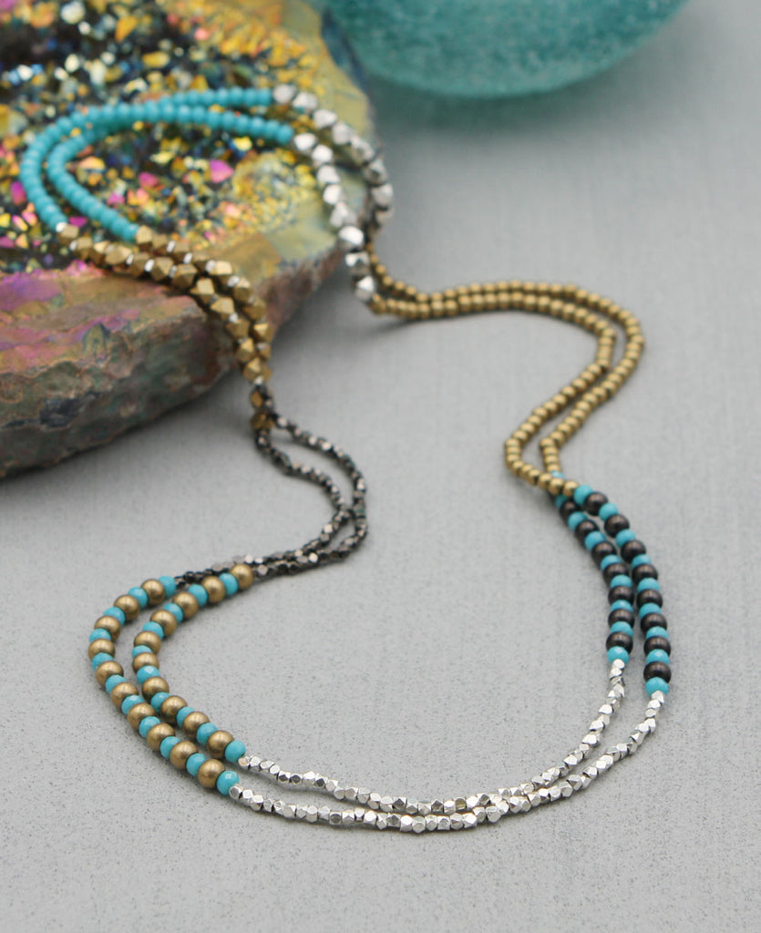 Geometric Bead Necklace