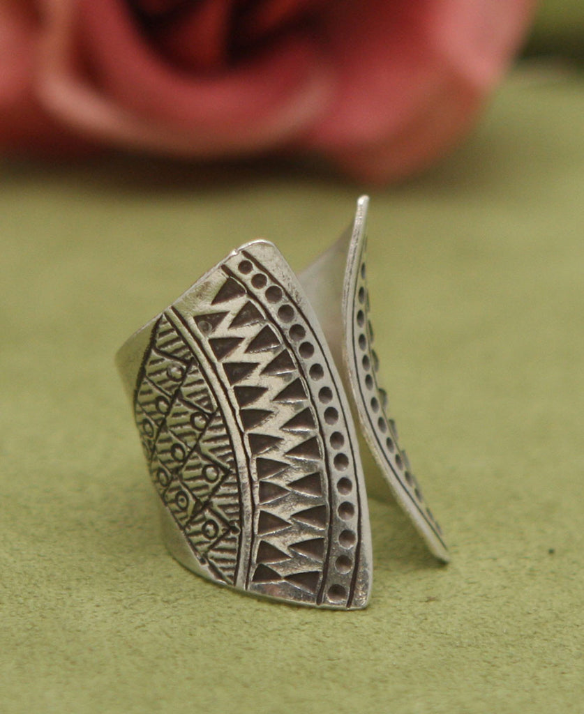 Hill Tribe Silver Concave Ring