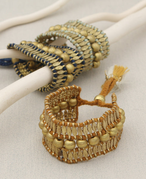 Beaded Brass Bracelets