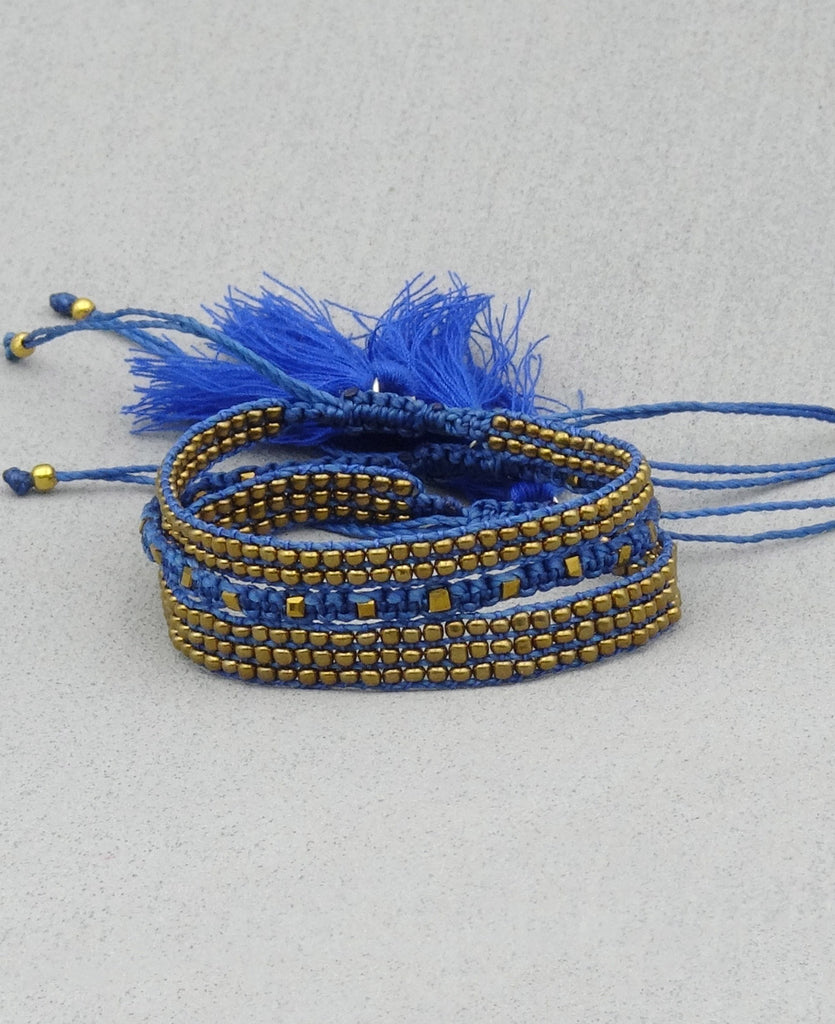 Guatemalan Beaded Tassel Bracelets, Fair Trade