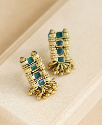 Emerald Golden Earrings