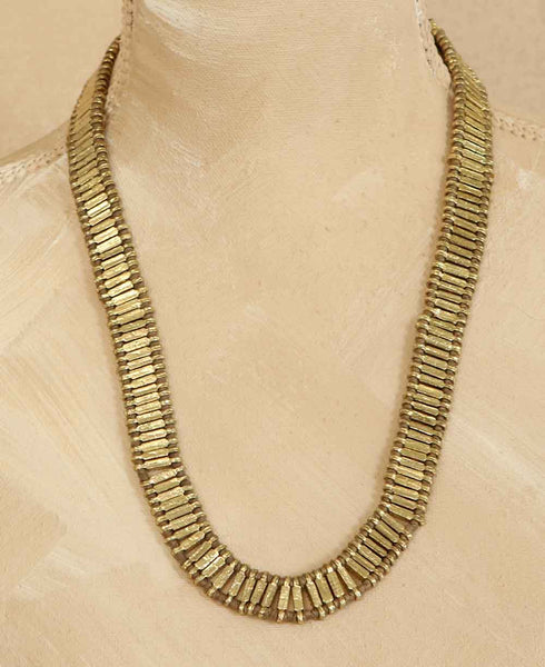 Woven Sona Statement Necklace in Taupe