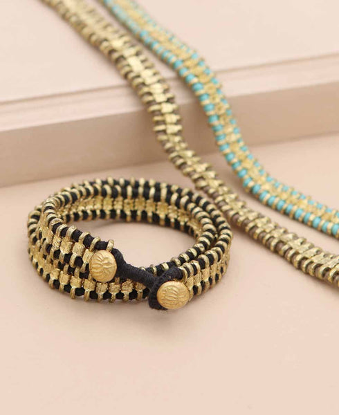 Sona Wrap Bracelet and Choker, India