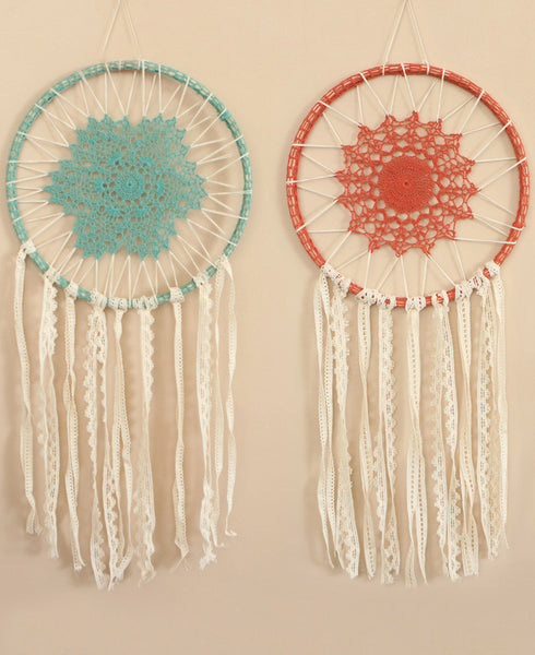 Vintage Inspired Crochet Dreamcatcher, India