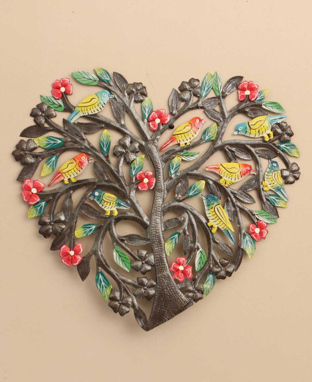 Heart Tree of Life Haiti Wall Hanging