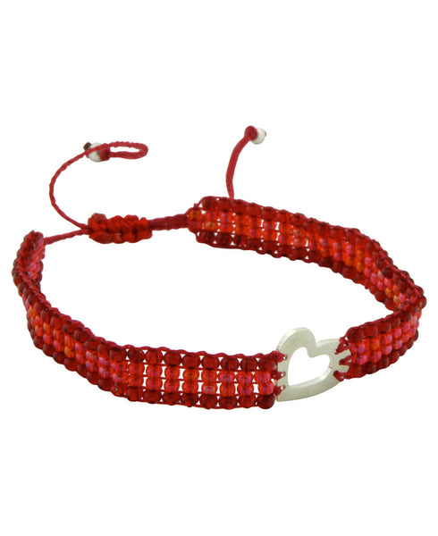 Made With Love Columbian Beaded Heart Bracelet