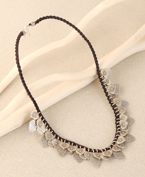 Hill Tribe Silver Bib Necklace