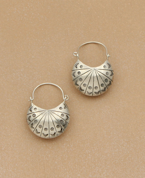 Hill Tribe Lunar Earrings