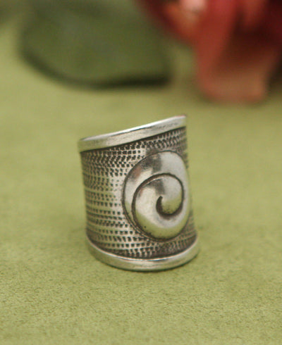 Hill Tribe Silver Spiral Ring