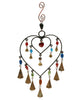 Double Heart Indian Wind Chime With Camel Bells