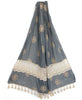Floral Embroidered Tulle Scarf, India