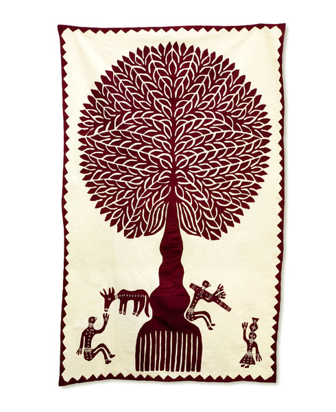 Tree of Life Applique Wall Hanging, India