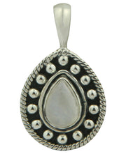 Ornate Gemstone Teardrop Pendants