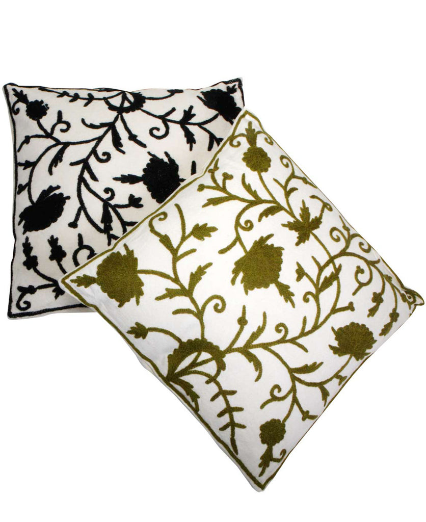 Suzani Embroidered Throw Pillow, India