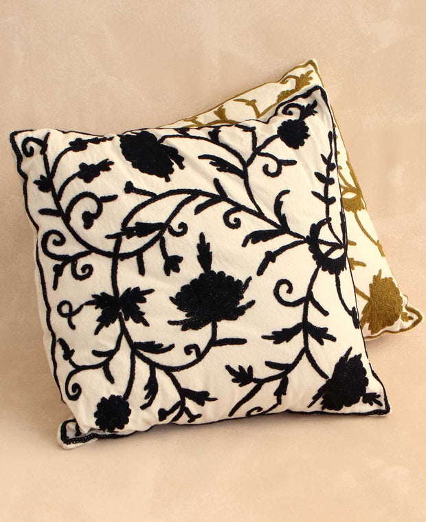 Embroidered Throw Pillow