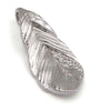 Silver and Crystal Textured Feather Pendant