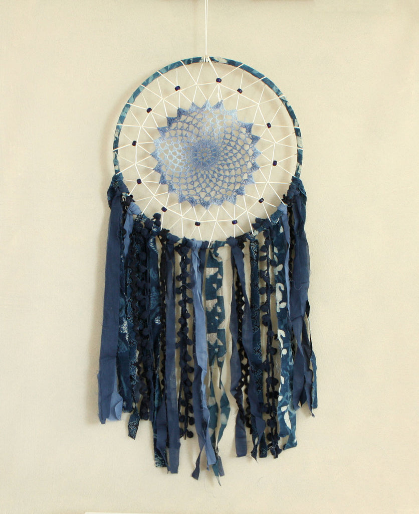 Indigo Crochet Dream Catcher, India