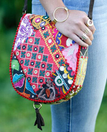 Kutch Patchwork Saddle Bag, India