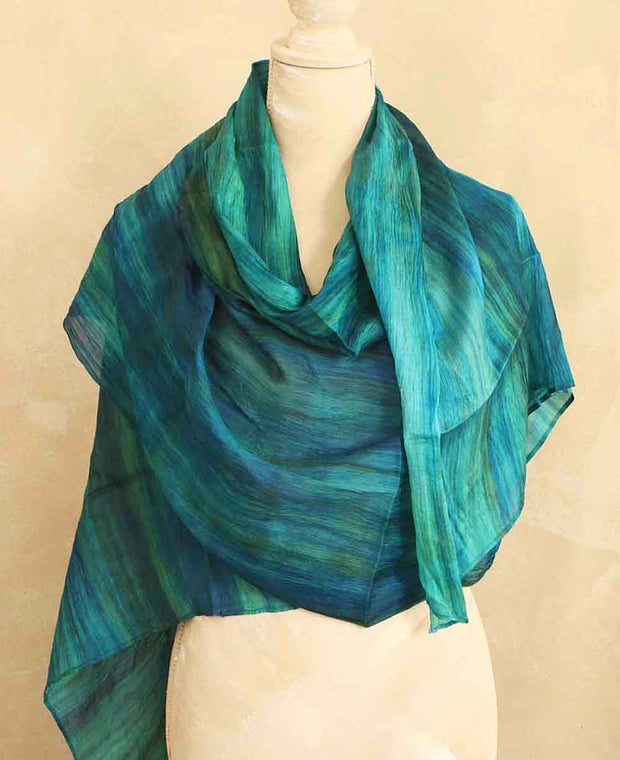 Watercolor Silk Scarf