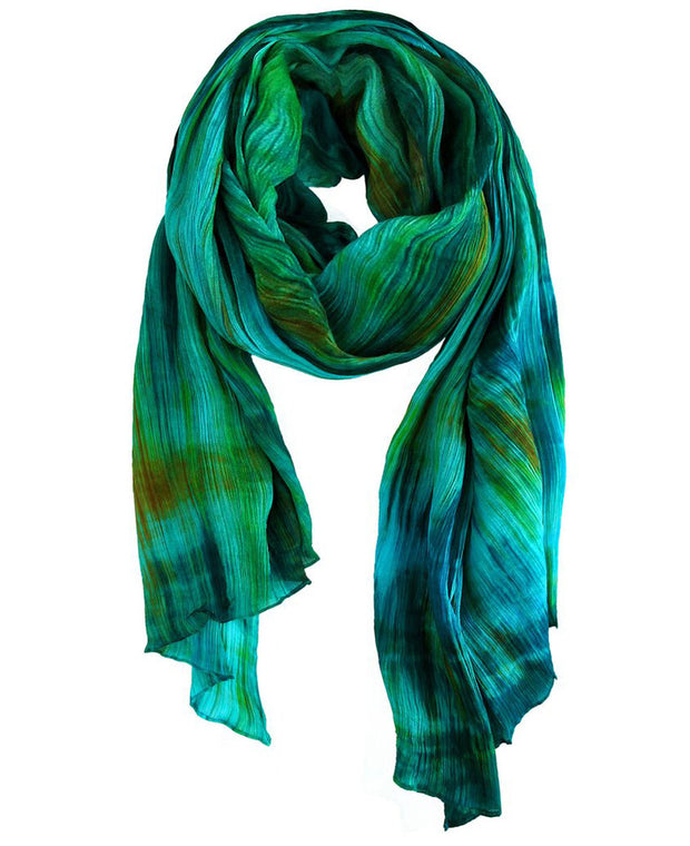 Silk Scarf Teal