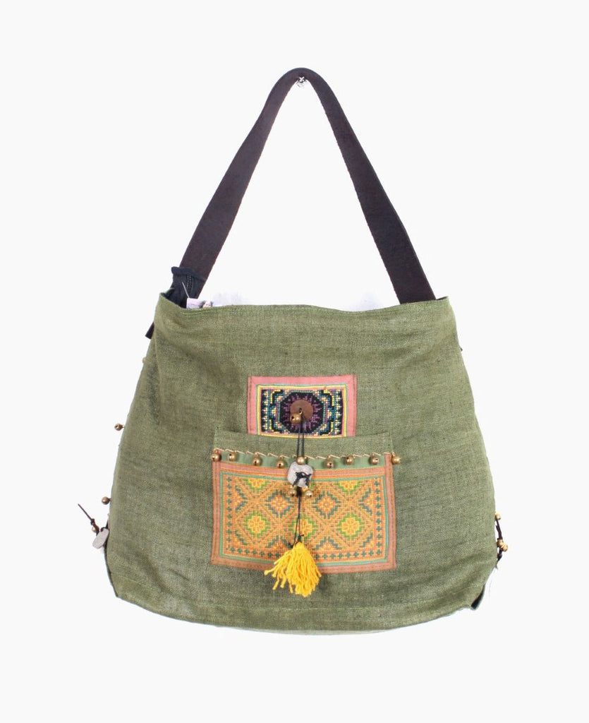 Fair Trade Hmong Canvas Tote Bag, Thailand