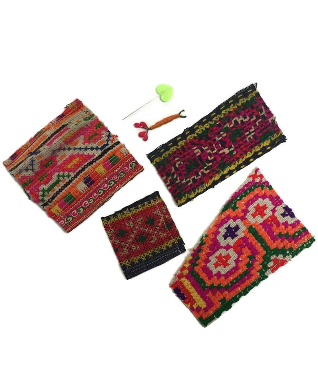 DIY Hmong Fabric Patch Kit